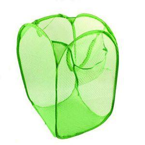 PANIER A LINGE Grand panier à linge pliant 40 * 40 * 60cm vert FZ