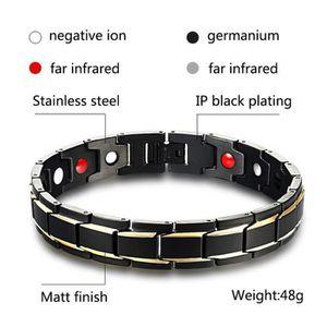 BRACELET - GOURMETTE BR-1193 Health Energy Bracelet Bangle hommes Stain