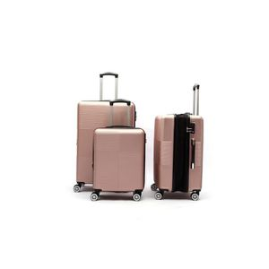 SET DE VALISES LYS - Set de 3 Valises Extensible Rose gold Rigide