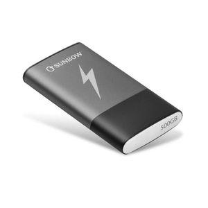 DISQUE DUR SSD TCSUNBOW SSD portable 500 Go Disque dur externe SS