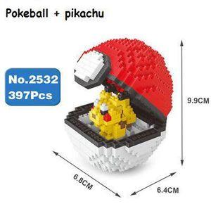 ASSEMBLAGE CONSTRUCTION Iblock - Figurine pikachu + pokéball - A assembler