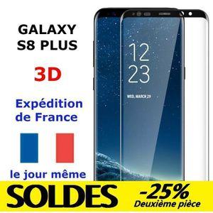 FILM PROTECT. TÉLÉPHONE VERRE Trempé Samsung GALAXY S8 PLUS NOIR Vitre Pro