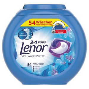 LESSIVE Lenor Detergent 3in1 Pods April Fresh 54 WL
