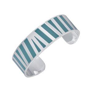 BRACELET - GOURMETTE LUYIA Bracelet Femme  LS18032 bleu ciel et blanc e