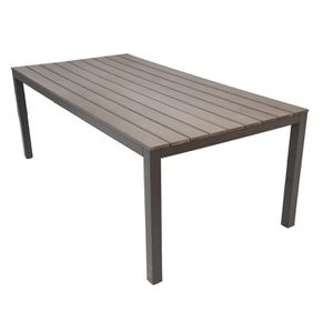 Table rectangulaire aluminium 210 x 103 x 74 cm - Achat ...