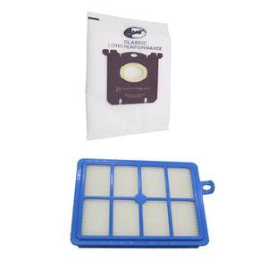 10 sacs pour Aspirateur Hepa Filtre pour Miele premium s 4281 s 4282 les personnes allergiques set