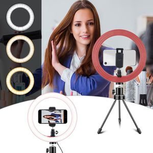 LAMPE ESCLAVE - FLASH Selfie Ring Light Anneau LED Réglable 3000K-5500K