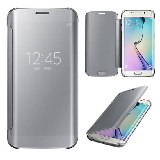 coque galaxy s6 edge clear view