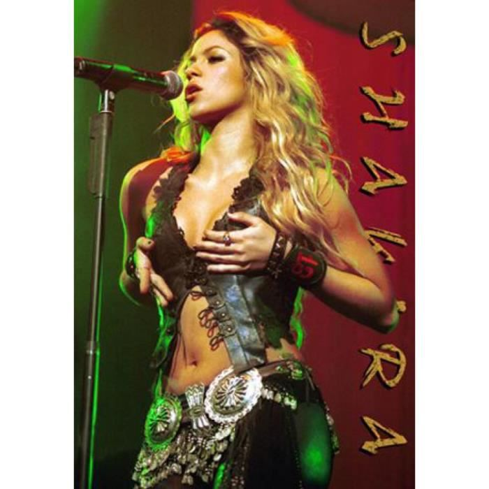 poster shakira achat vente poster shakira pas cher. Black Bedroom Furniture Sets. Home Design Ideas