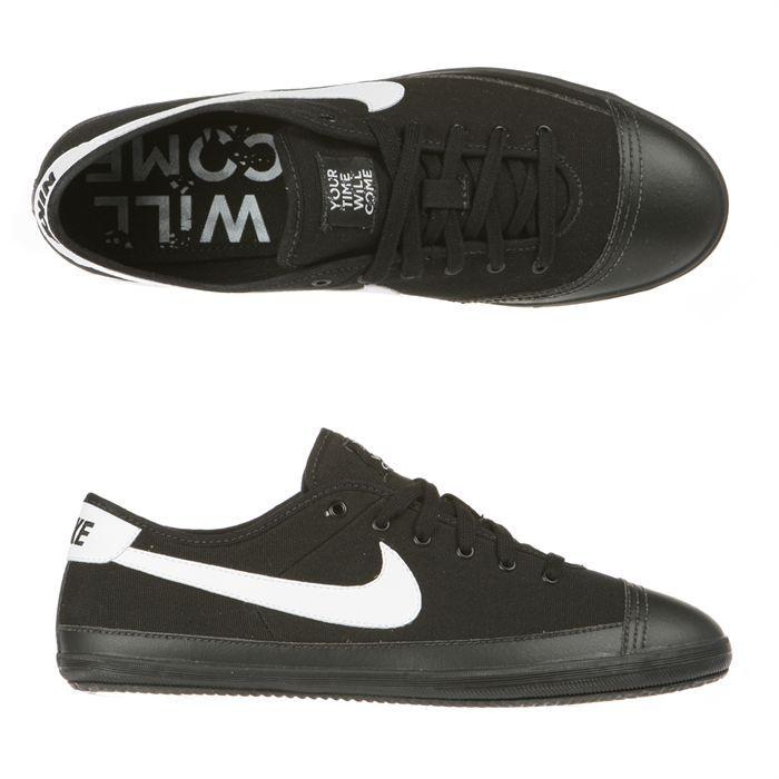 NIKE Baskets Cuir Flash Homme Noir et blanc - Cdiscount Chaussures