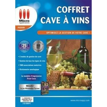 coffret cave a vins logiciel pc de gestion d 39 une achat. Black Bedroom Furniture Sets. Home Design Ideas