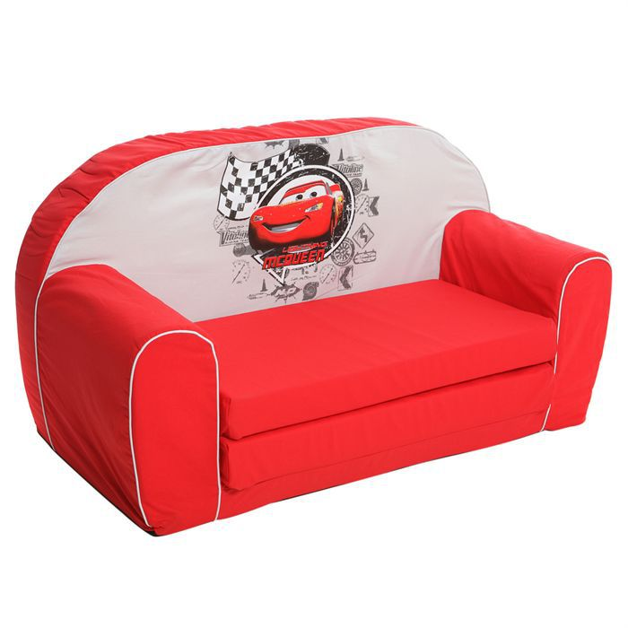Cars canap mousse sofa disney baby rouge achat for Canape enfant 2 places