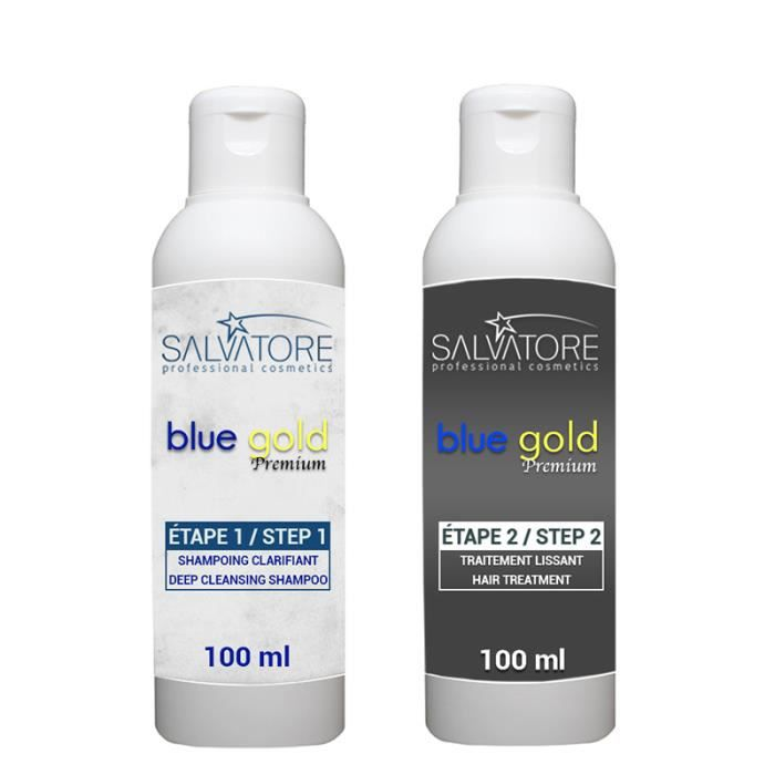 SALVATORE Kit Lissage au Tanin - Blue Gold - 2 x 100 ml