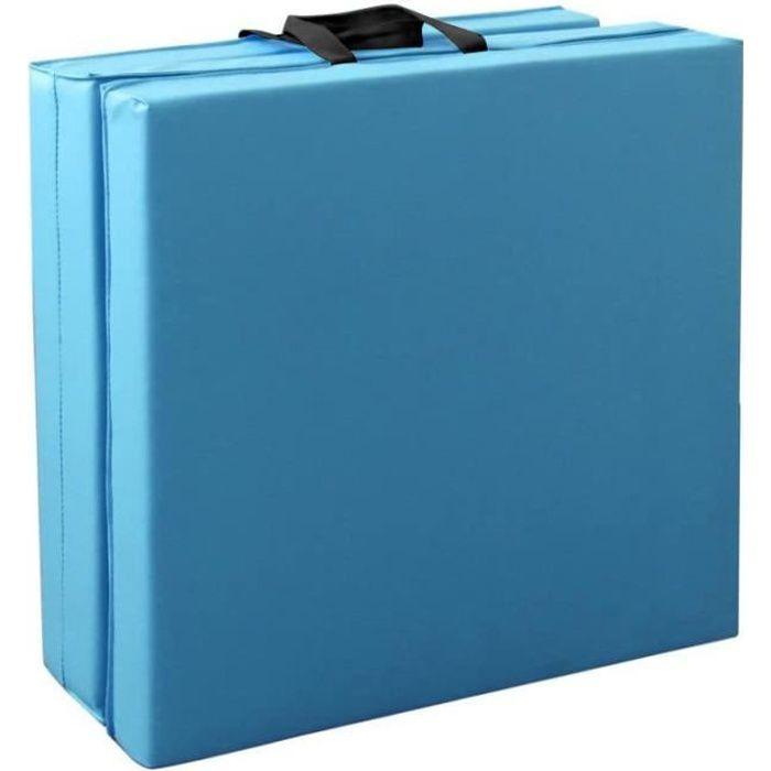 YUDAN 180cm Tapis de Gymnastique Tapis de Sol Pliable Tapis de Yoga Portable avec Poignées de Transport 3 panneaux