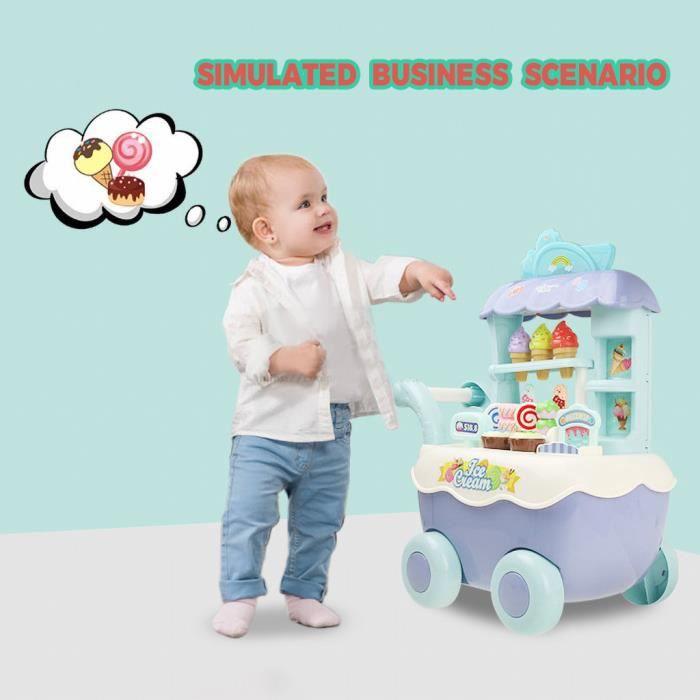 【un camion】Enfants fille couleur panier de crème glacée cuisine jouet ensemble éducation bricolage jouet cadeau_YU5439