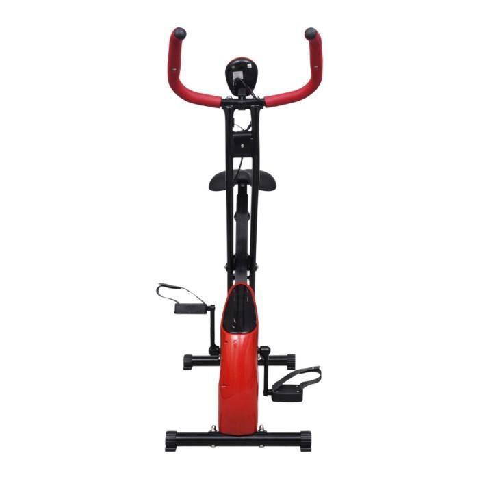 Magnifique Velo d'appartement pliable Magnetique Xbike 2,5 kg Noir Rouge