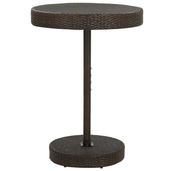 MARKET��- Table de Jardin de terrasse extérieure, Table de balcon Marron 75,5x106 cm Résine tressée��7396