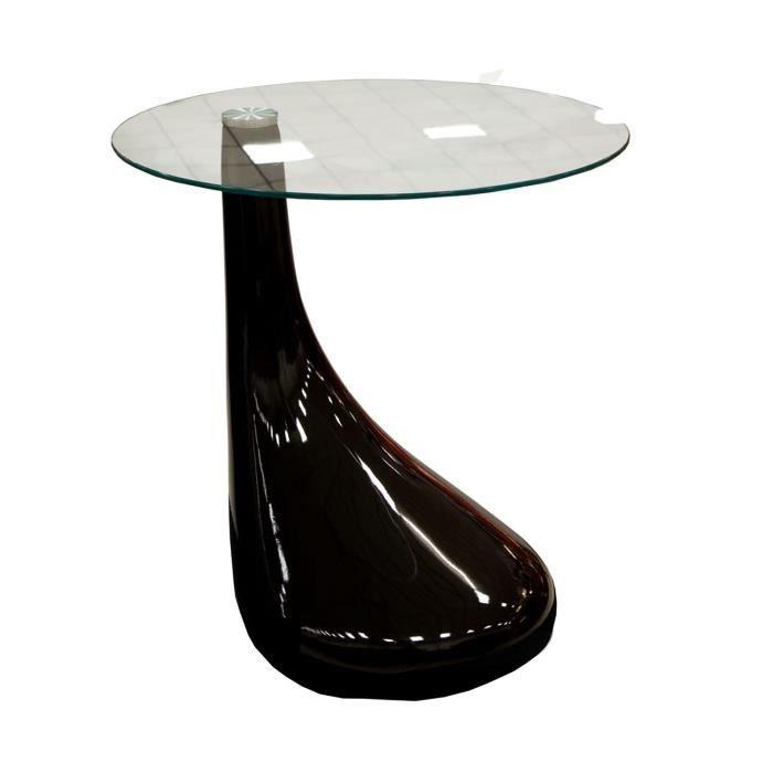 Table basse laquée design noir