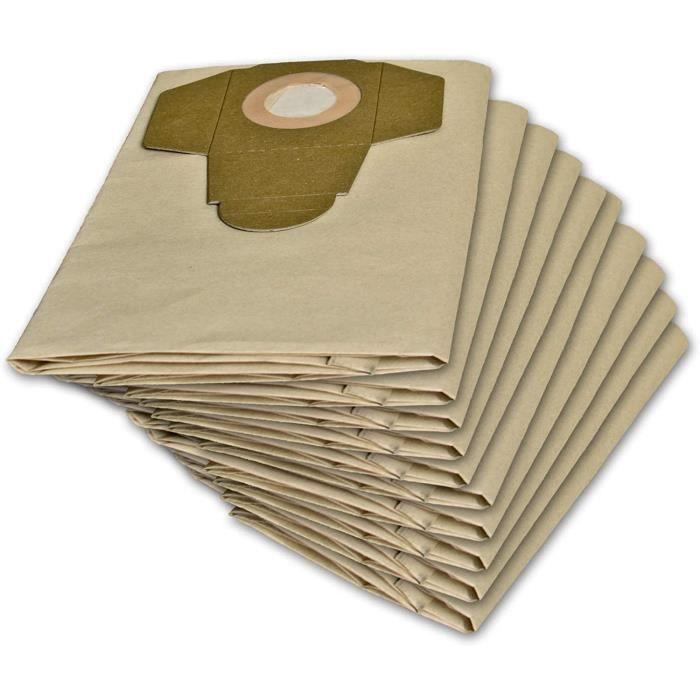 ASPIRATEUR Lot de 10 sacs daspirateur pour Parkside PNTS 1400 1500 A1 B1 B2 B3 C1 C3 D1 E2 C4 F2408