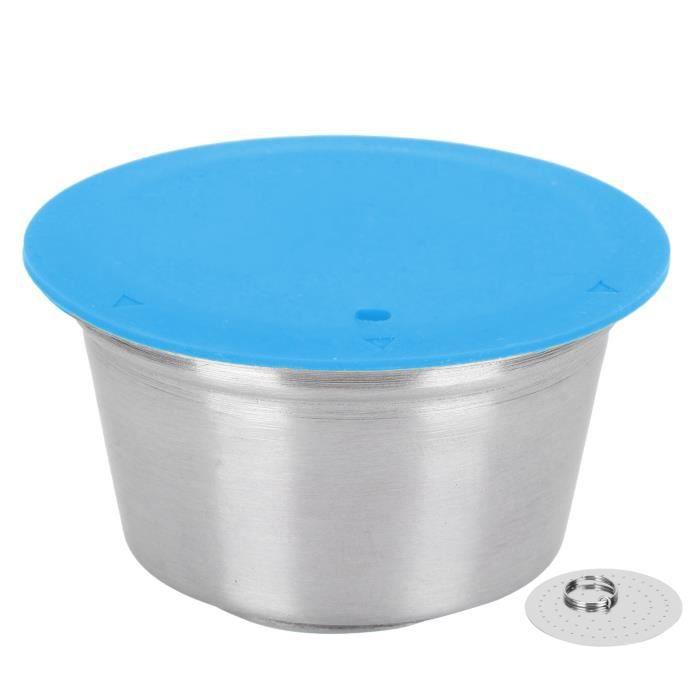 Cikonielf Tasse de capsule Tasse de Filtre Rechargeable Réutilisable en Acier Inoxydable Capsule de Café pour Dolce Gusto Machine