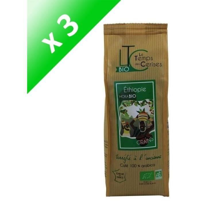 [LOT DE 3] LE TEMPS DES CERISES Café en grain BIO Moka d'Ethiopie - 250 G