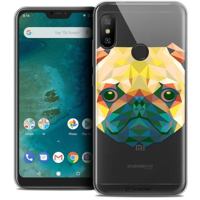 Coque Gel Xiaomi Mi A2 LITE (5.8 ) Extra Fine Polygon Animals - Chien
