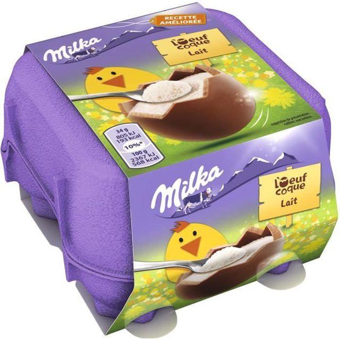 MILKA Chocolat Oeufs Coques Lait - 136 g