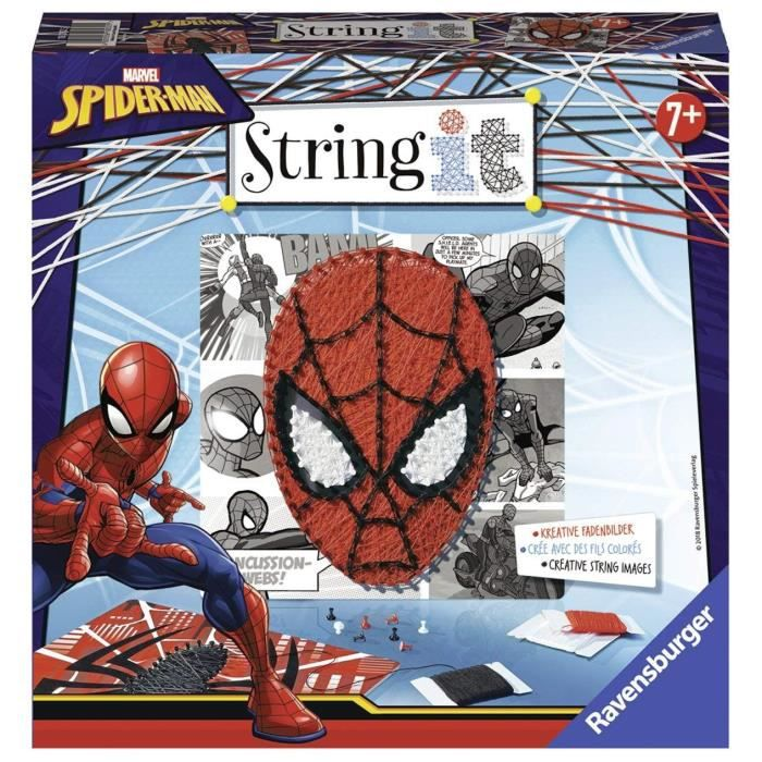 STRING IT midi licence Spiderman Suivez La tendance du String Art ! Ravensburger
