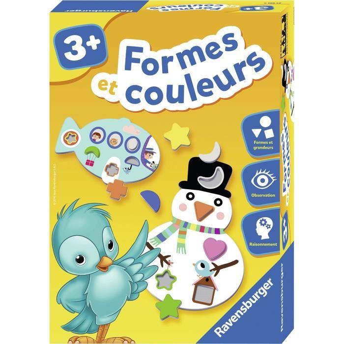 Formes et couleurs - Jeu éducatif - Apprentissage des formes et des grandeurs - Ravensburger - Dès 3 ans