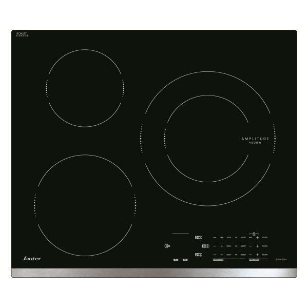 SAUTER Table de cuisson induction SPI4360X - 3 foyers - Commandes tactiles