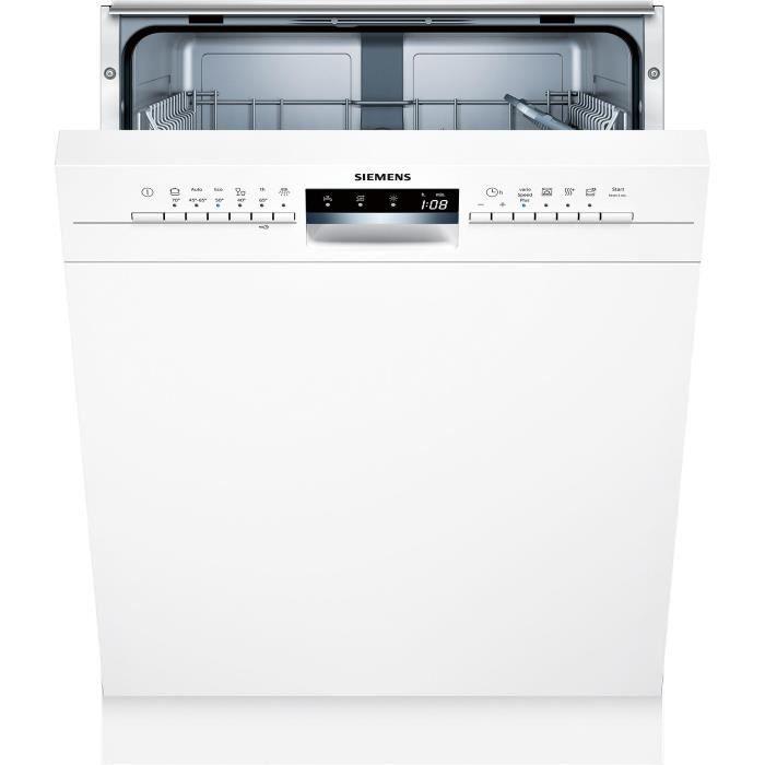 Siemens - lave-vaisselle 60cm 12c 46db a++ intégrable avec bandeau blanc - sn336w01ge