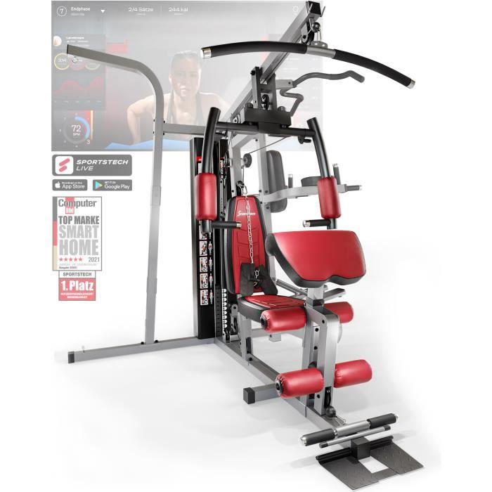 Sportstech Premium HGX250 sans sac de boxe 50en1 Multi Gym pour un entraînement complet - entraînement multifonctionnel à domicile