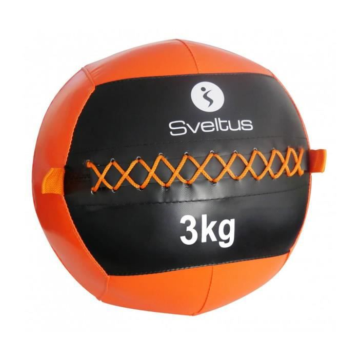 Wall ball Sveltus 35 cm - 3 kg - orange-noir - TU
