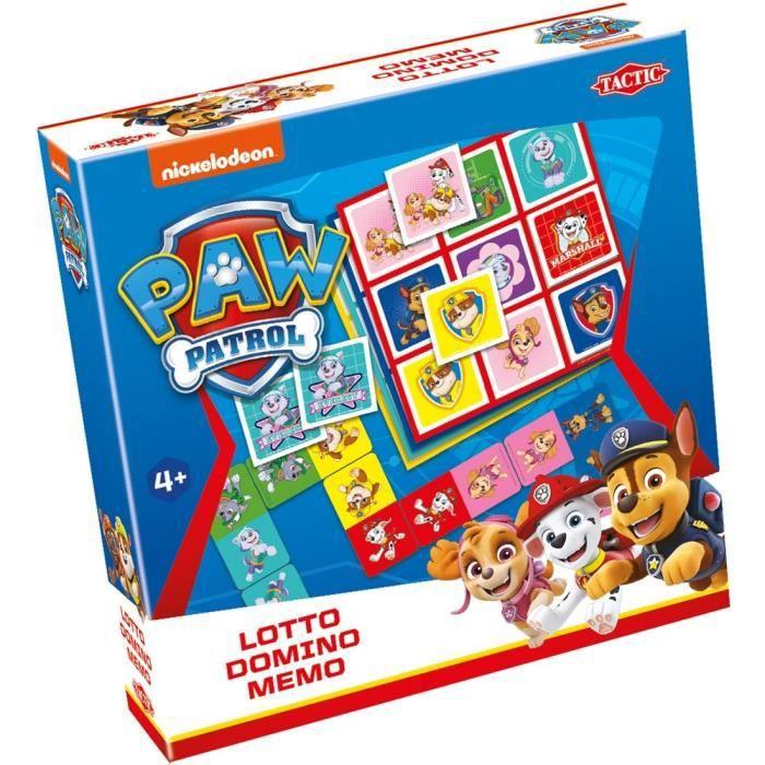 Tactic Jeux 3 en 1 (mémo, loto, domino) Patrouille de patrouilles