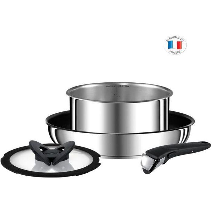 TEFAL L9409032 Set de 4p INGENIO PREFERENCE - Tous feux dont induction - Fabrication française - Inox