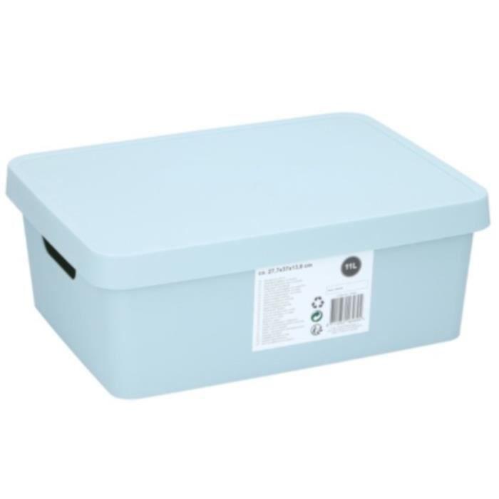 TOM boîte de rangement 37 x 27,7 x 13,8 cm 11 litres vert