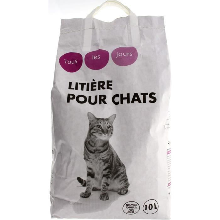 TOUS LES JOURS - Litière - Pour chat - 10L