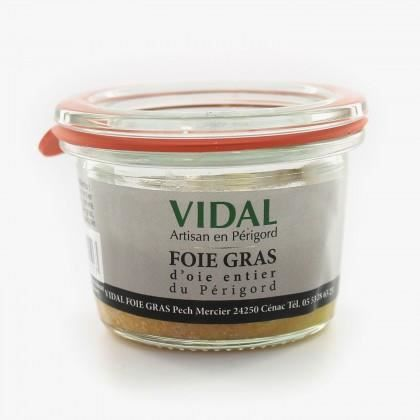 FOIE GRAS OIE entier du Périgord 40 gr Vidal
