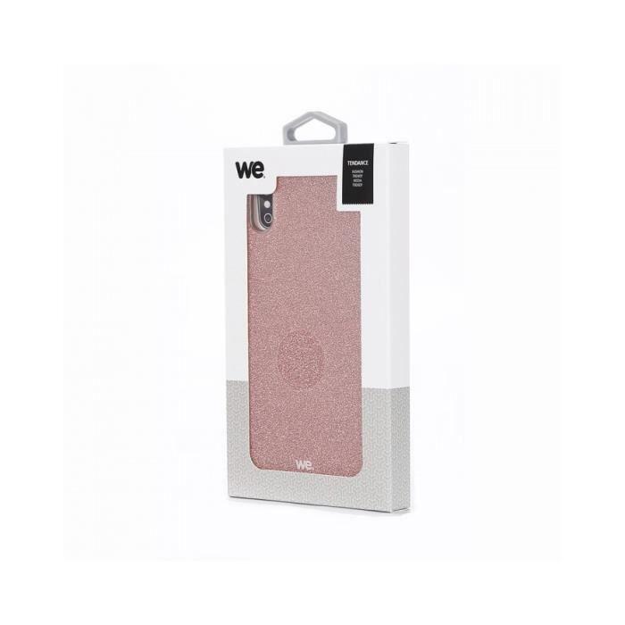 Coque de protection paillette We pour IPhone Xs max Rose