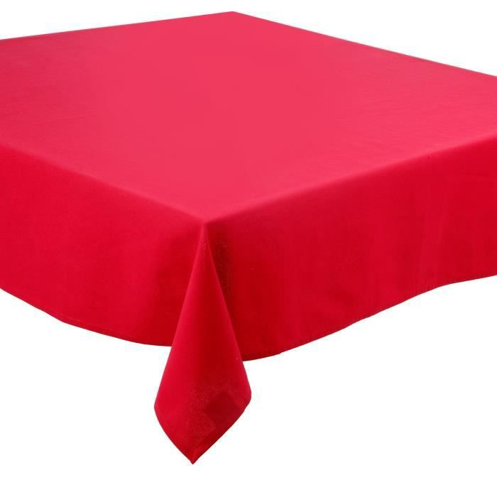nappe anti taches coton 150 x 150 cm rouge achat vente nappe de table cdiscount. Black Bedroom Furniture Sets. Home Design Ideas