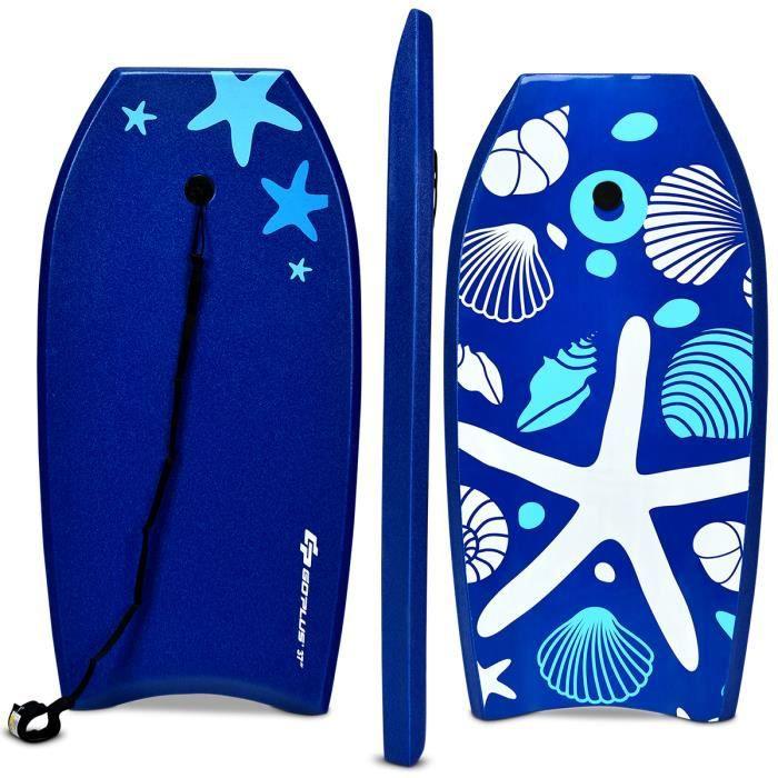 Planche De Surf 41 Pouces Bodyboard En Ete Avec Sangle De 90 Cm Et Dessin Moderne 105 X 51 X 6 Cm Prix Pas Cher Cdiscount