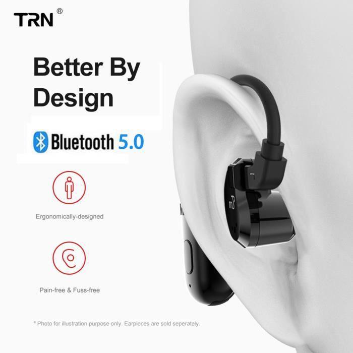CASQUE - ÉCOUTEURS TRN BT20 Bluetooth Crochet d'oreille V5.0 0,78 éco