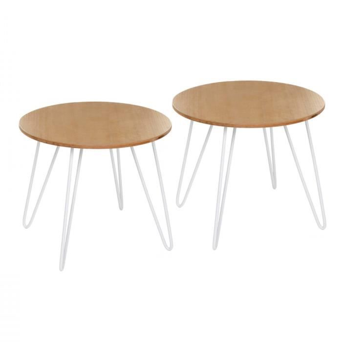 Lot de 2 - Table basse design - Esprit scandinave - Achat / Vente ...