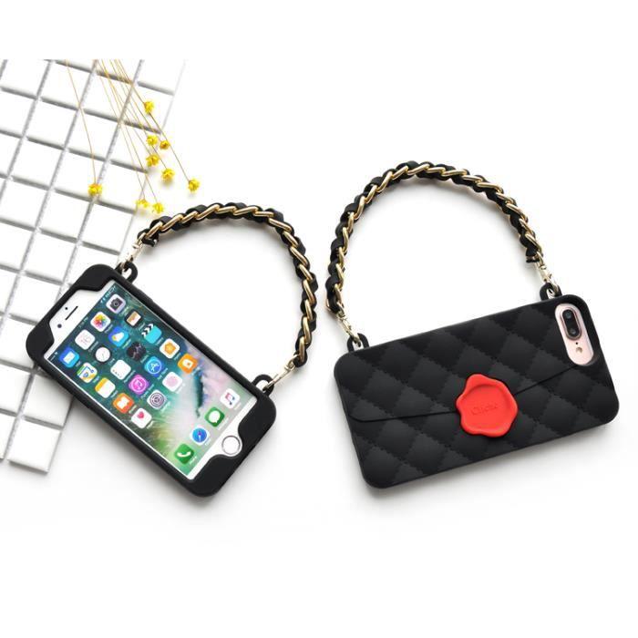 coque iphone 6s fleur sac a mainjoint noir rouge e