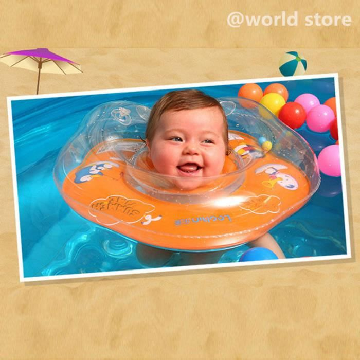Bouee Bebe Anneau De Bain Gonflable Agreable Securite Piscine Plage