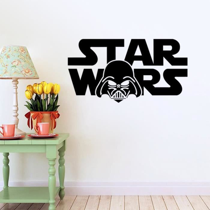 star wars lettres bricolage amovible art vinyl quote wall sticker decal murales home decor. Black Bedroom Furniture Sets. Home Design Ideas