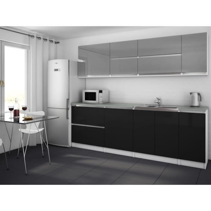 moderna gris noir cuisine compl te 260 cm achat. Black Bedroom Furniture Sets. Home Design Ideas