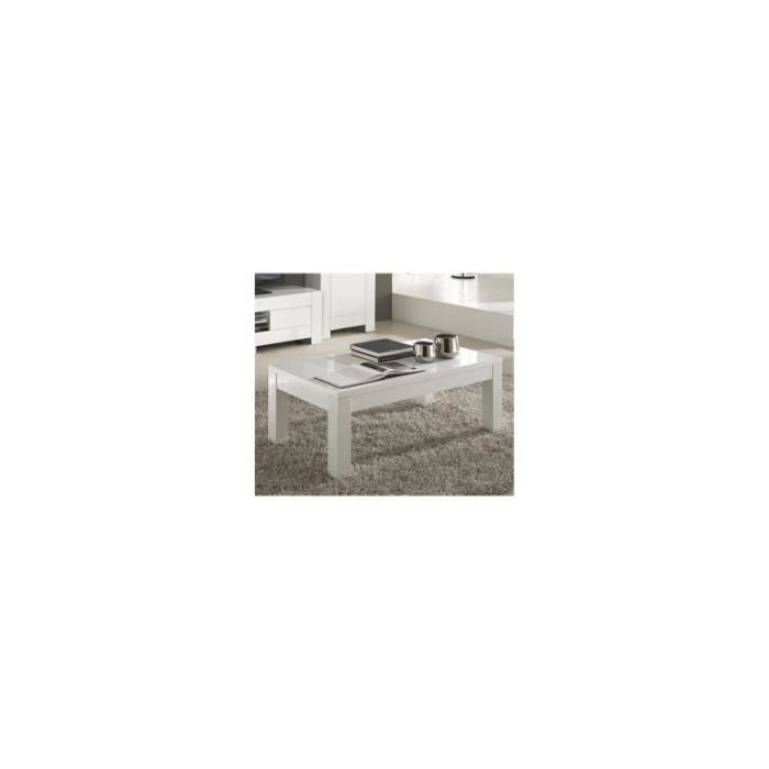 Table basse rectangulaire laqu blanc design cambia - Table basse rectangulaire design ...