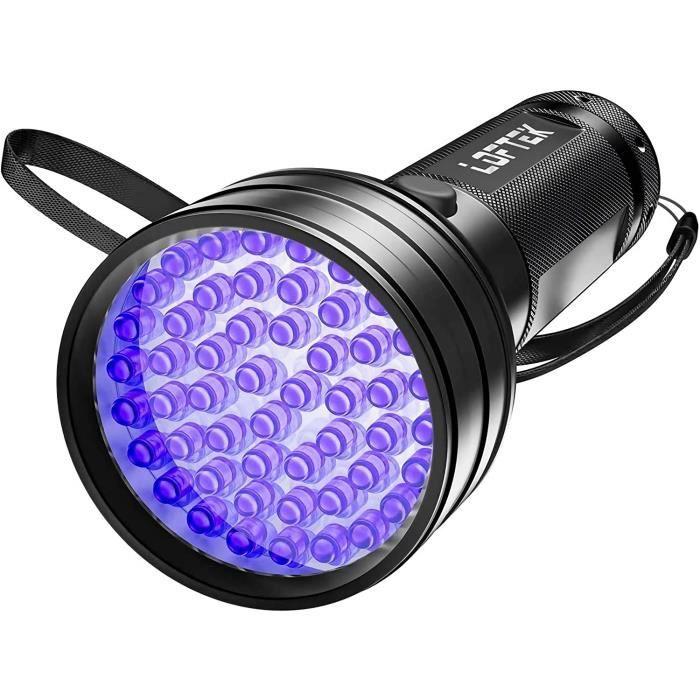 DEL Torch UV Lampe de poche avec 395 Presque comme neuf Black Light Super Bright 500 lm 4 modes