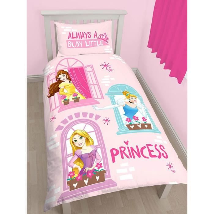 disney princess boulevard simple housse de couette et taie. Black Bedroom Furniture Sets. Home Design Ideas
